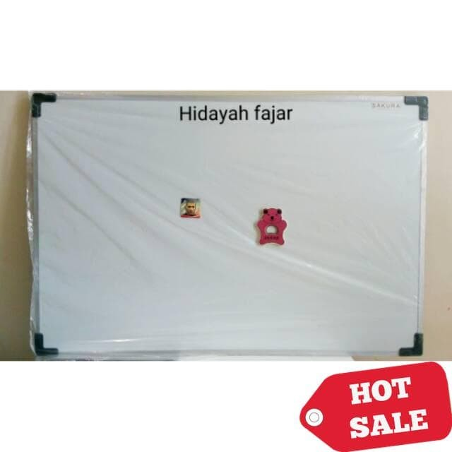 [HOT DEAL] Papan tulis magnet SAKURA / white board 90 X 60