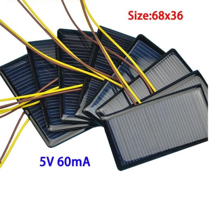 harga Solarcell panel surya tenaga matahari solar cell kecil 68*36mm mini 5v Tokopedia.com