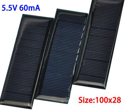 harga Solarcell panel surya tenaga matahari solar cell 100*28 mini 5.5v Tokopedia.com
