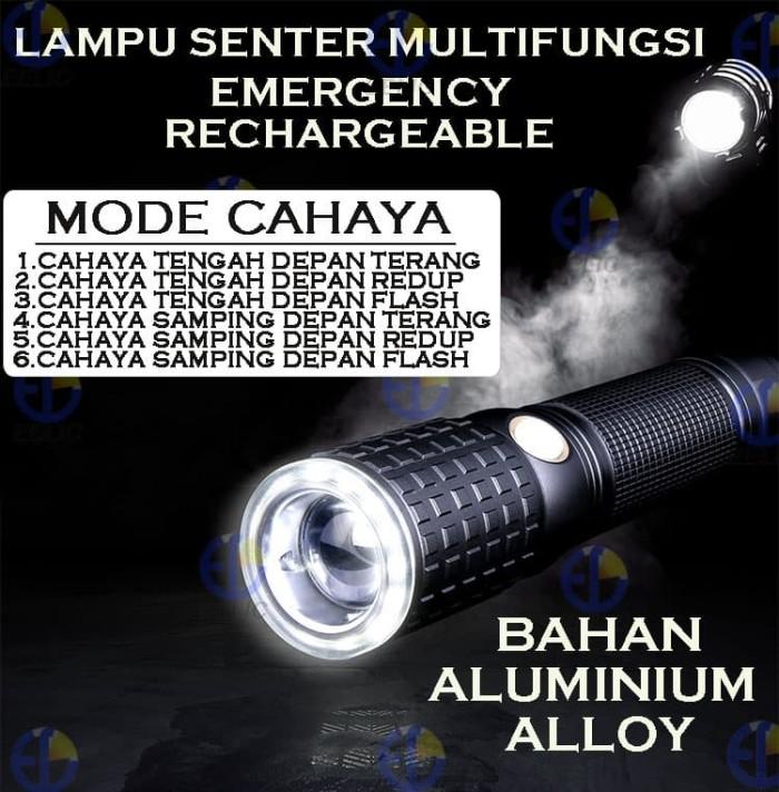 harga Eelic las-w530 hitam lampu senter cree led t6 senter emergency recharg Tokopedia.com