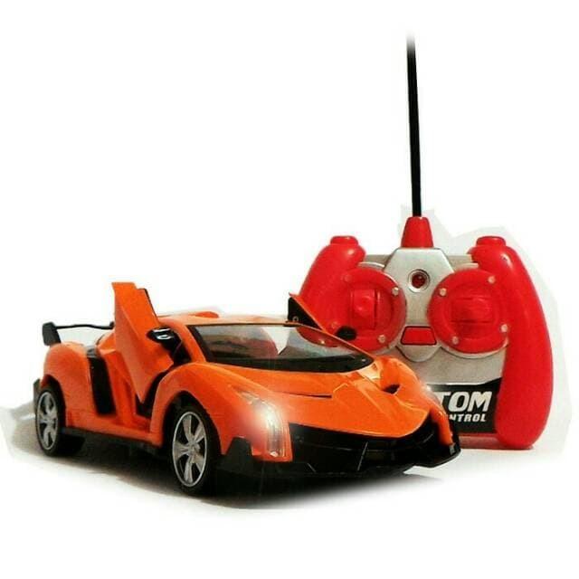 Rc Mobil Lamborghini Orange/Merah Skala 1:24 Pintu Bisa dibuka Tutup