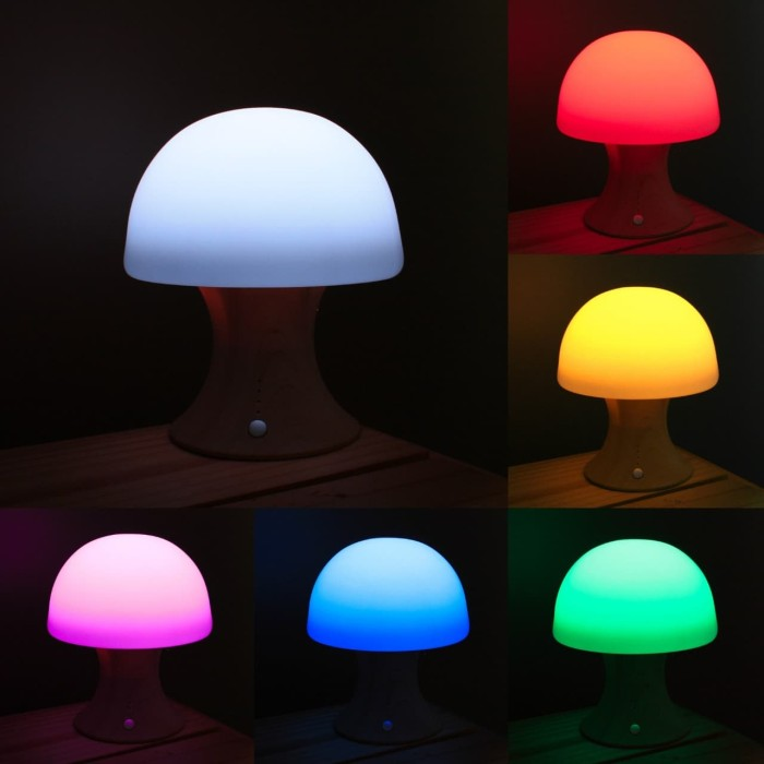 Foto Produk UCHII Night Bedroom Colorful Lamp Silicone / Lampu Meja Natural Stand dari uchii store