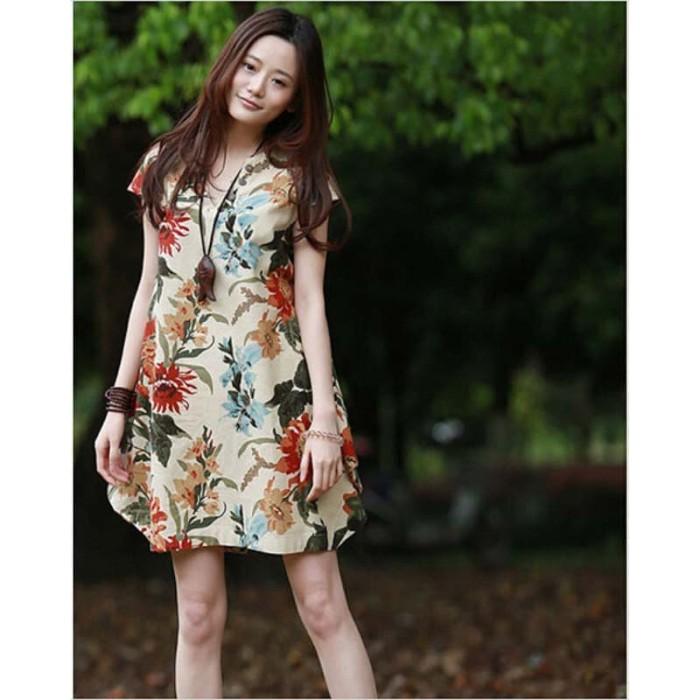 harga Dress vintage wanita casual/ dress import zanzea /dress big size Tokopedia.com