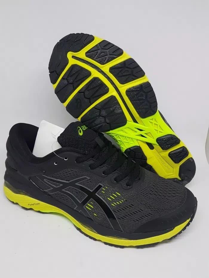 Jual Sepatu running Volly Asics Gel Kayano 24 Black Neon Premium ... e140d408d9