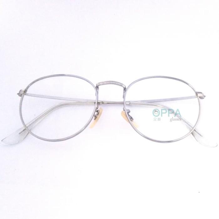 harga Frame Kacamata Korea Pria Wanita Oppa Op03 Sv Silver Bulat Fashion  Blanja.com 737cdf4bd0
