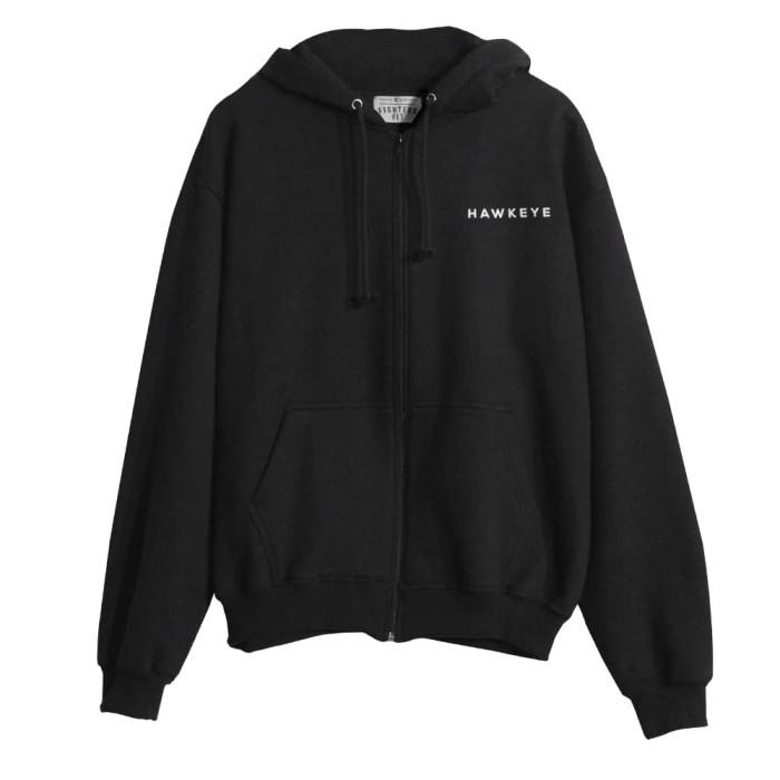 Champion black full-zip hooded jacket - hitam l