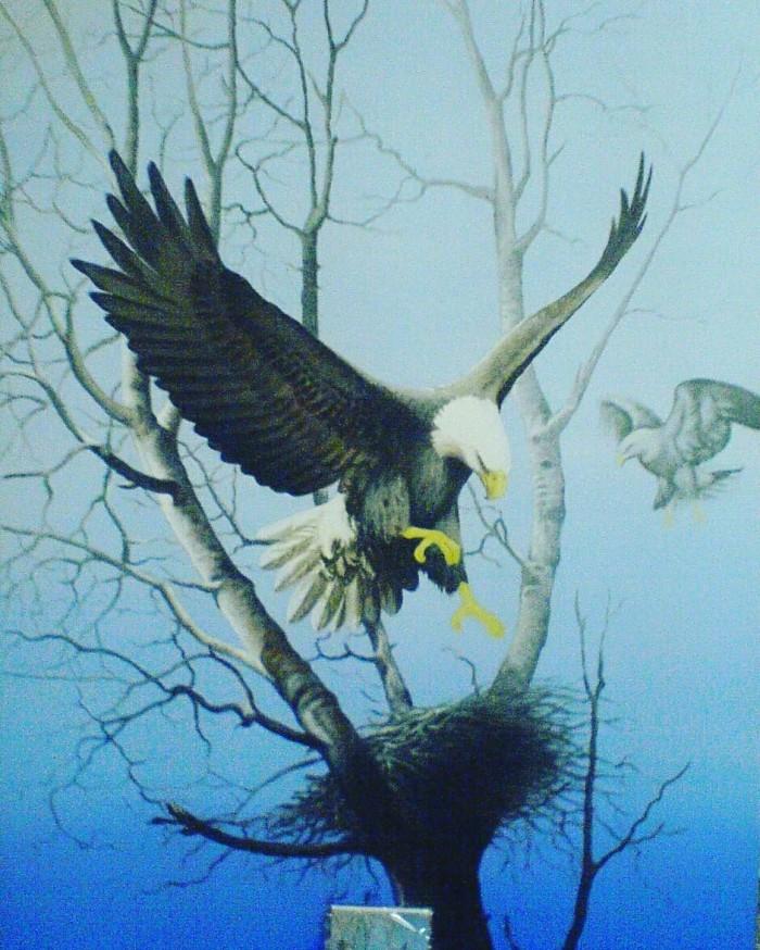 Jual Lukisan Dekorasi Burung Elang Besar Kab Gianyar Jendela