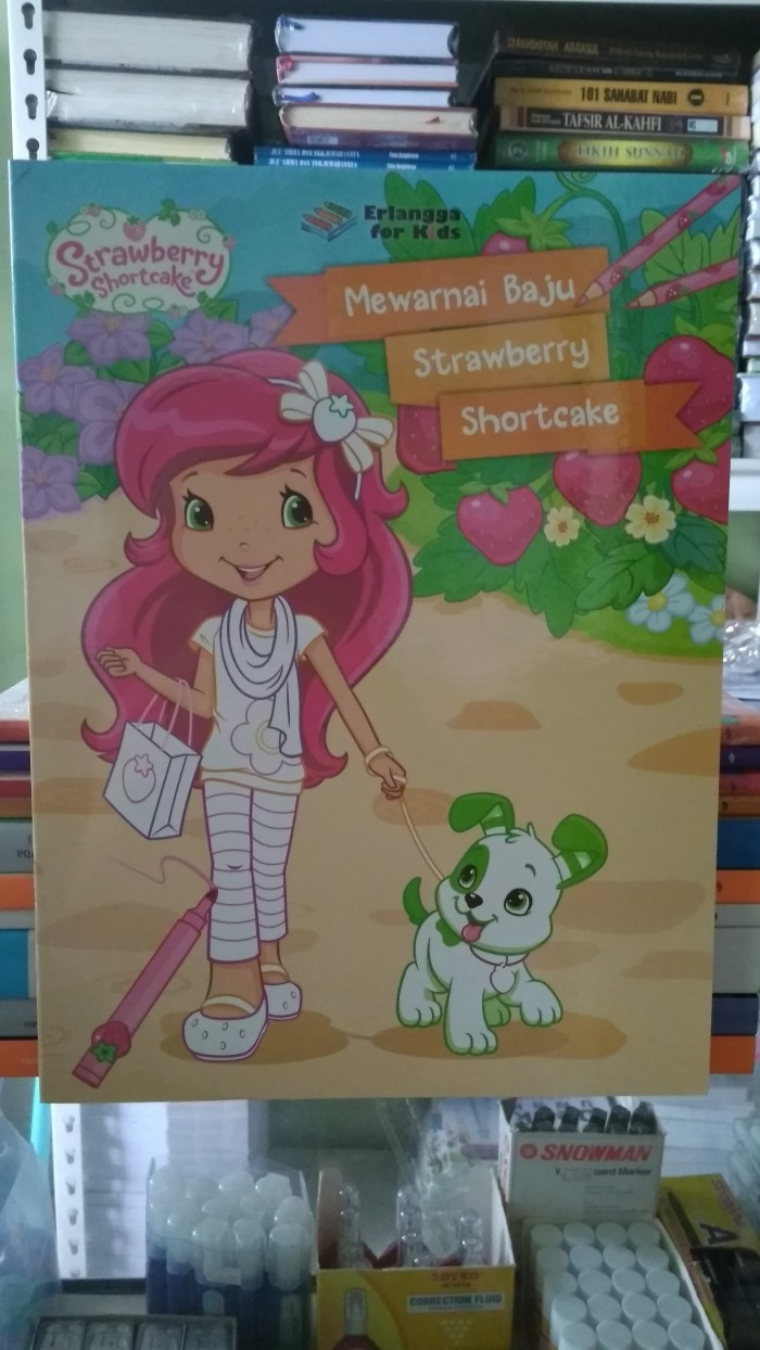 Jual Strawberry Shortcake Mewarnai Baju Strawberry Shortcake