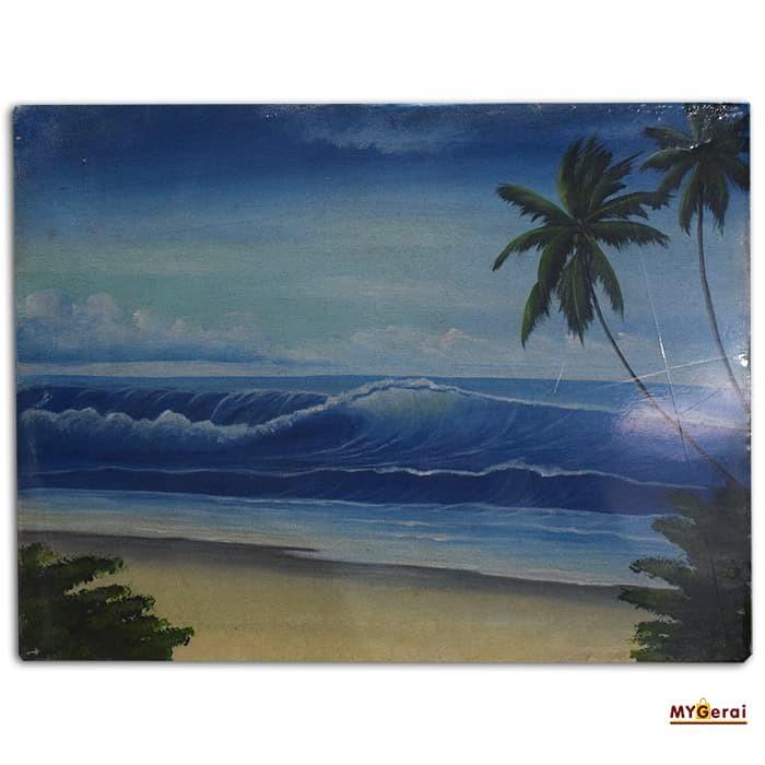 Jual Lukisan Pemandangan Pantai Mygerai Tokopedia