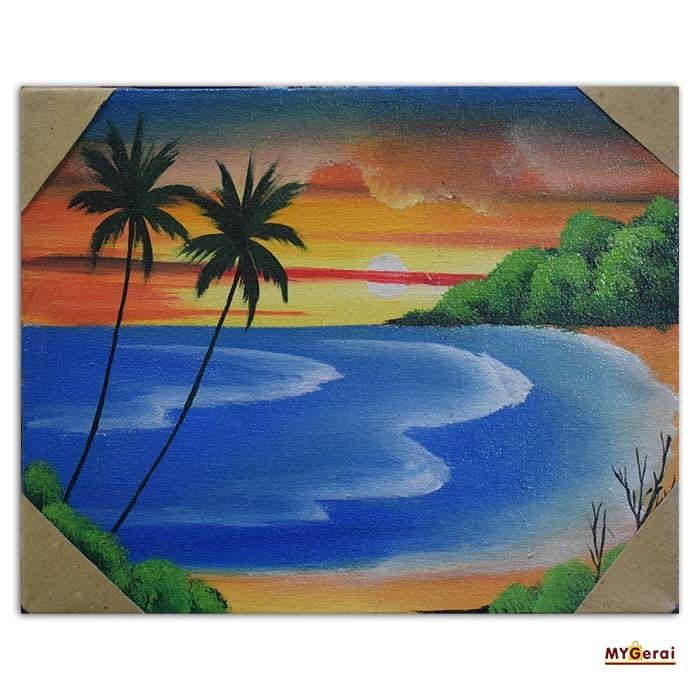 86 Koleksi lukisan pemandangan pantai anak Gratis