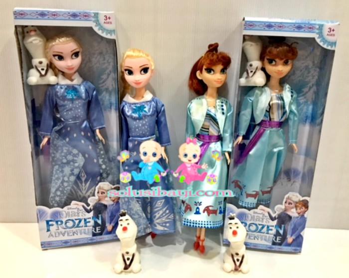 Boneka Elsa dan Boneka Anna Frozen DISNEY Bentuk Barbie Cantik Harga Promo  Murah EXTRA PACKING e1fe93e83a