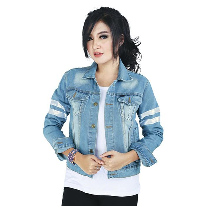 harga Jaket levis wanita terbaru biru - jeans denim jaket cewek murah doz  Tokopedia.com 675dee3bba
