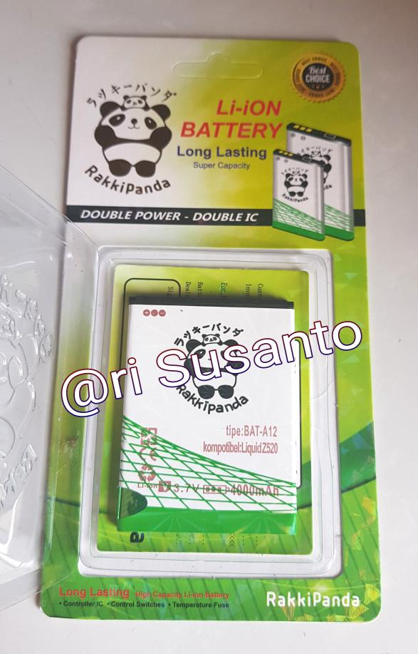 harga Baterai rakkipanda bat-a12 for acer liquid z520 double power 4000mah Tokopedia.com