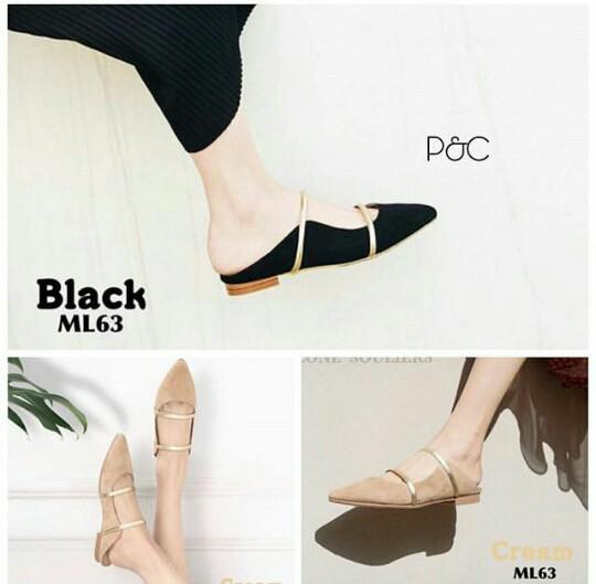 Foto Produk Sepatu Wanita Murah Flatshoes Dio Ready 3 warna - Hitam, 38 dari JodyHouse