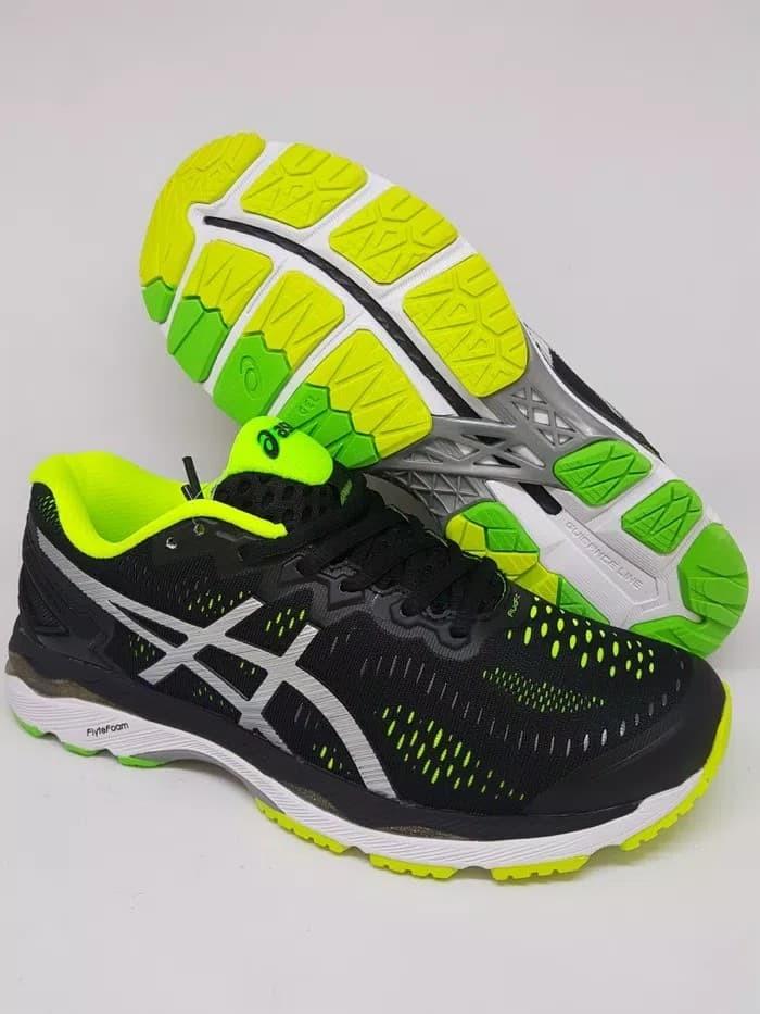Jual Sepatu Running Volly Asics Gel Kayano 23 Black Green Premium ... 5ccb23bc70