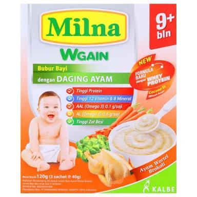 harga Milna bubur bayi ayam brokoli wortel 120gr Tokopedia.com