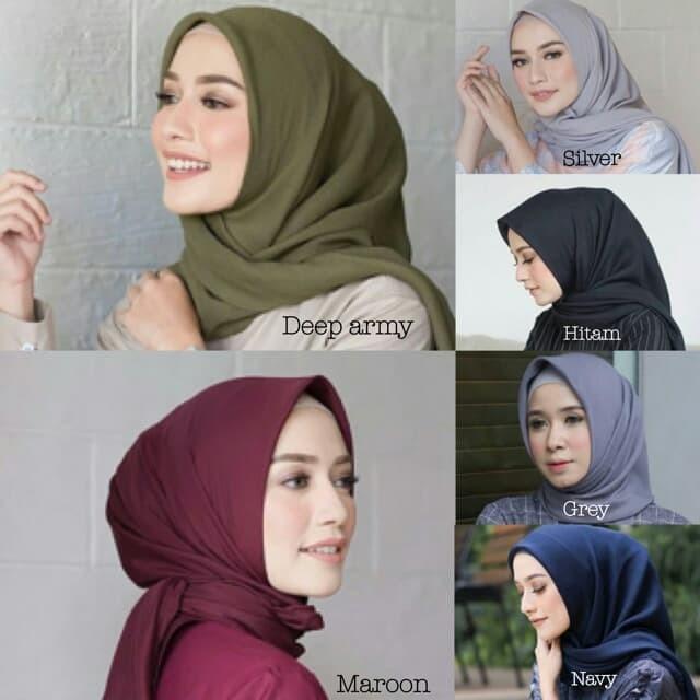 Jual Bella Square Hijab Jilbab Kerudung Bella Premium Double