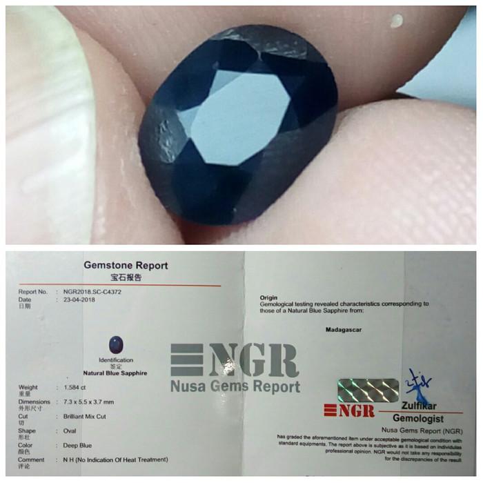 harga Unheated royal blue sapphire # ada batu cincin safir srilanka ceylon Tokopedia.com