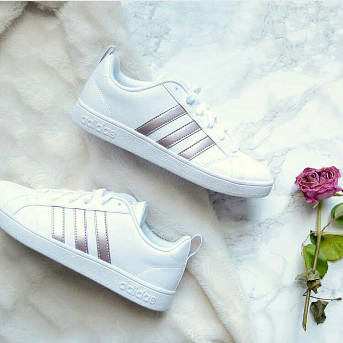 8068d575a8e4 Jual Sepatu sneakers casual adidas neo advantage original white rose ...