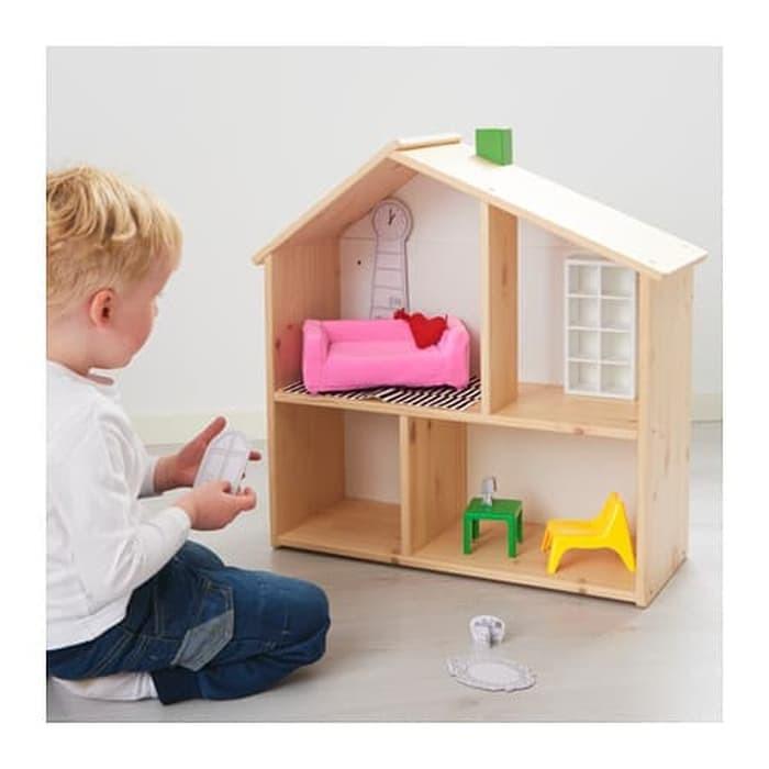 Mainan Anak Ikea Huset Perabot Ruang Tamu Boneka Doll Living Room