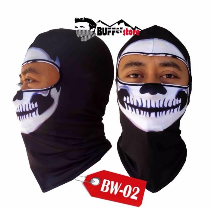 Masker Full Face Motif Tengkorak Hitam Daftar Harga Terkini dan Source · Masker Kain Wajah Pria