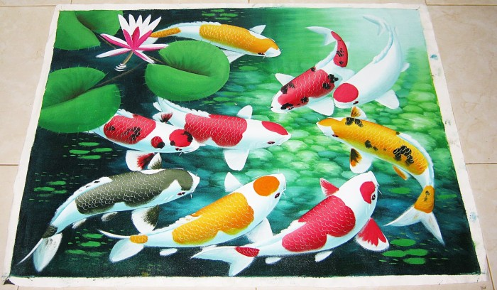 harga Lukisan ikan koi 9 motif menarik Tokopedia.com