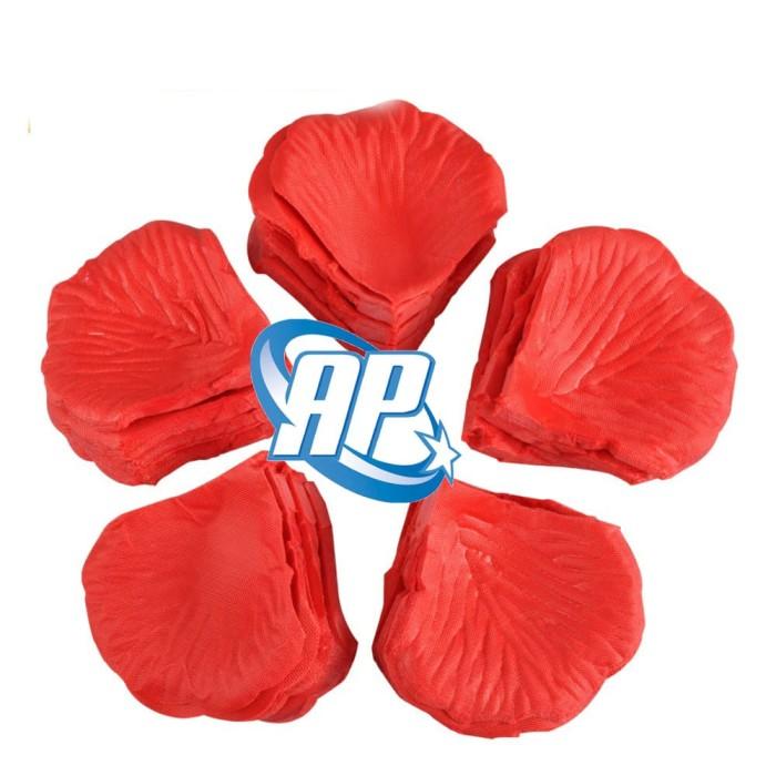 Foto Produk rose petal Merah / kelopak bunga Merah / kelopak bunga kain Merah dari ANEKA PARTI