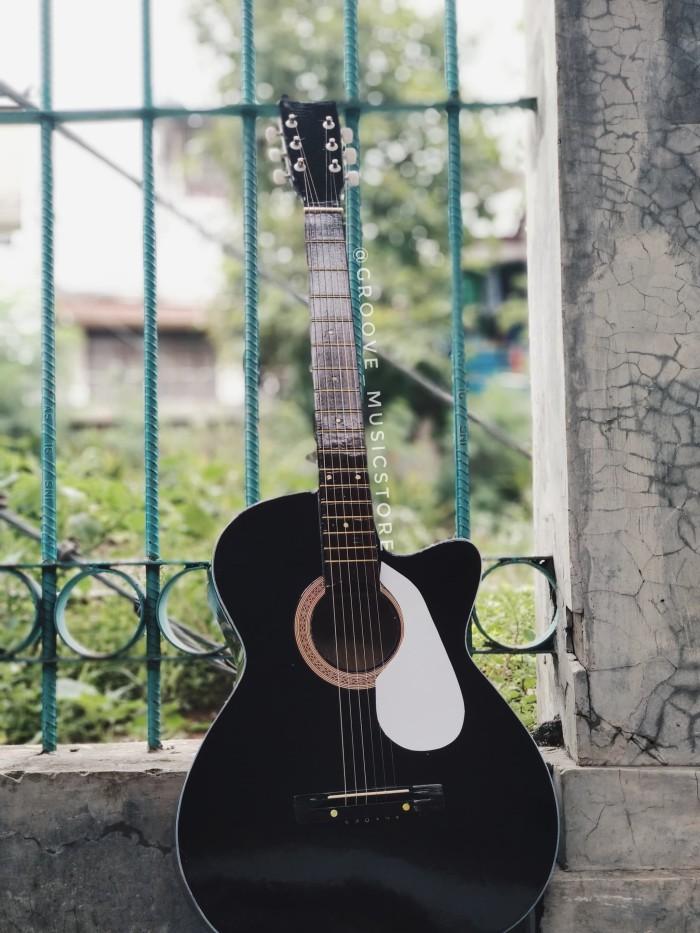 harga Gitar akustik black premium with softcase Tokopedia.com