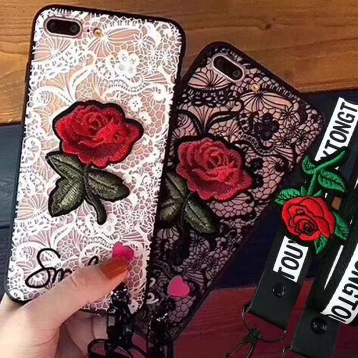 harga Case iphone x 5 5s 6 6s 7 8 plus 3d casing flower rose/bunga mawar Tokopedia.com
