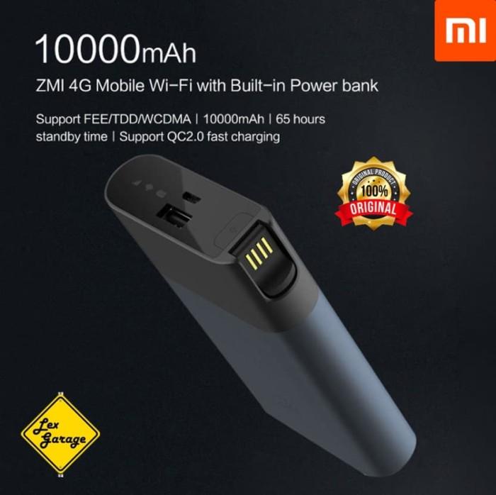 harga Mifi modem wifi router 4g xiaomi zmi power bank 10000mah original Tokopedia.com