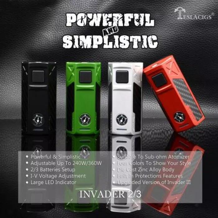 Jual Tesla Invader 2 3 Box Mod Authentic 360w Vape Vapor Vaporizer Jakarta Pusat Damselprice Tokopedia