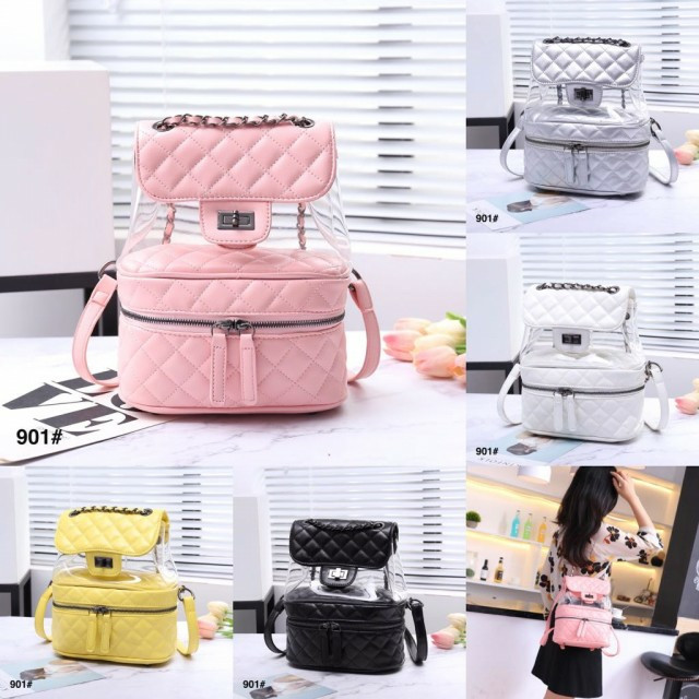 7aedfb6832e6ed Jual New Ready Stok Transparent Bag Chanel Transparent Backpack ...