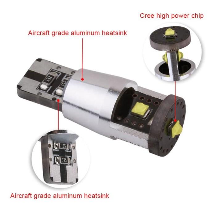 ... harga Lampu led t10 cree chips xp-e canbus 15 watt senja mundur mobil motor
