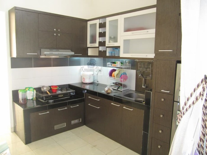 Desain Meja Dapur Island  jual kitchen set bentuk l shape key kota semarang furniture semarang tokopedia