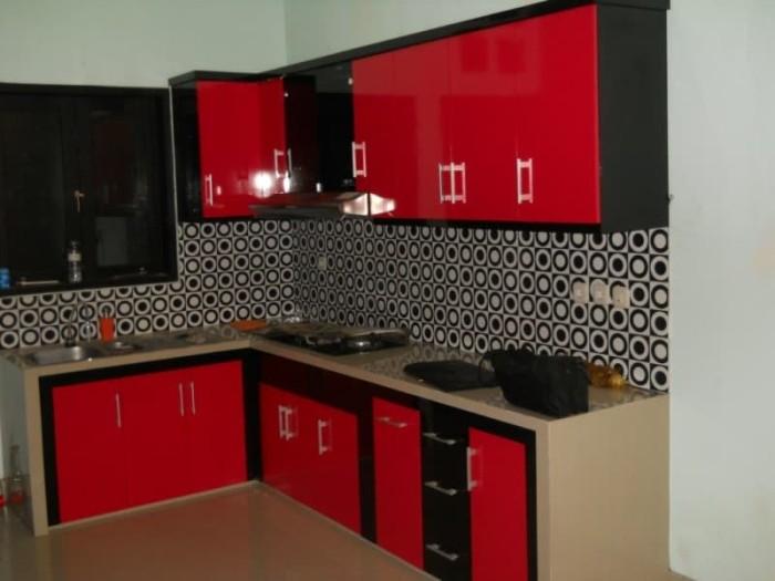 Jual Kitchen Set Warna Merah Key Furniture Semarang Tokopedia