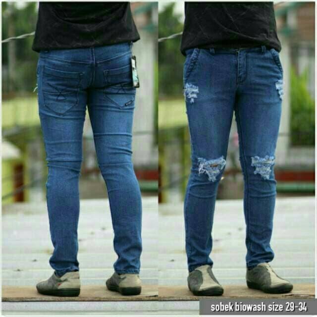 Biru Tua. Source · Celana jeans panjang ripped pria celana cowok levis .