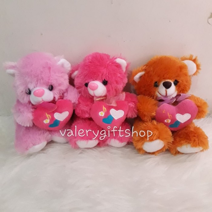 Boneka Beruang Teddy Bear Cute Love 17cm