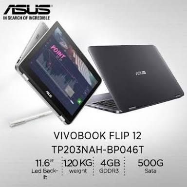Jual Laptop Asus Vivobook Flip 12 Tp203nah Bp046t Kota Depok