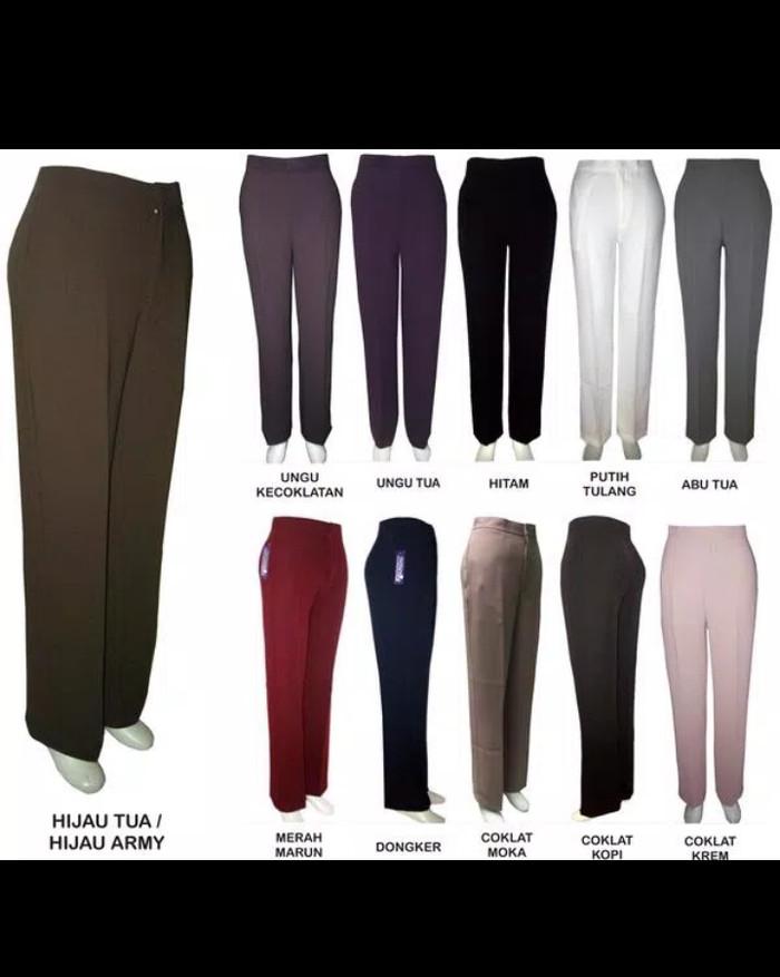 harga Celana kerja kain wanita panjang ukuran jumbo bigsize besar xxl & 3xl Tokopedia.com