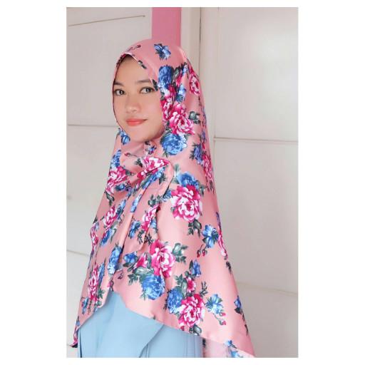 Khimar nayla maxmara (jilbab instan syar'i motif bunga)