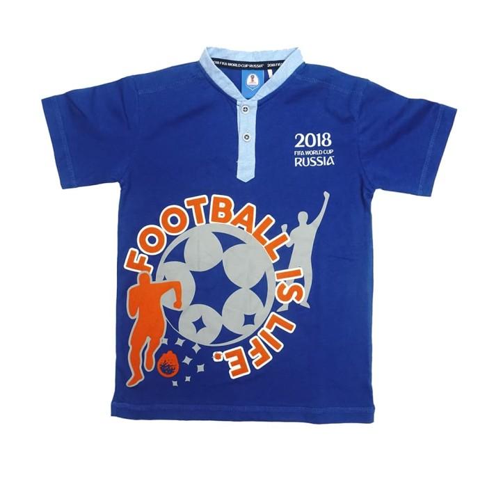 harga Fifa world cup t-shirt anak laki-laki - blue ff3005 - 8-9 tahun Tokopedia.com
