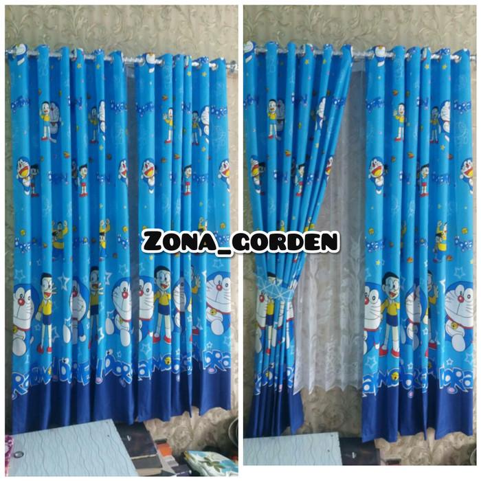 Jual Gorden Karakter Doraemon Biru Tirai Jendela Pintu Minimalis Kab Bandung Zona Gorden Tokopedia