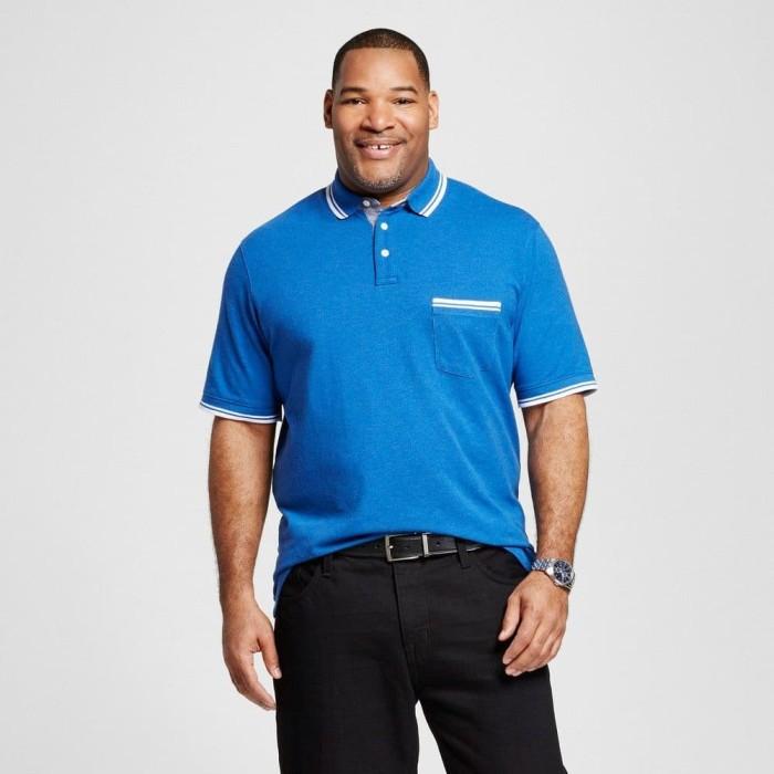 harga Men polo shirt mrna blue bigsize - kaos kerah pria biru jumbo size Tokopedia.com