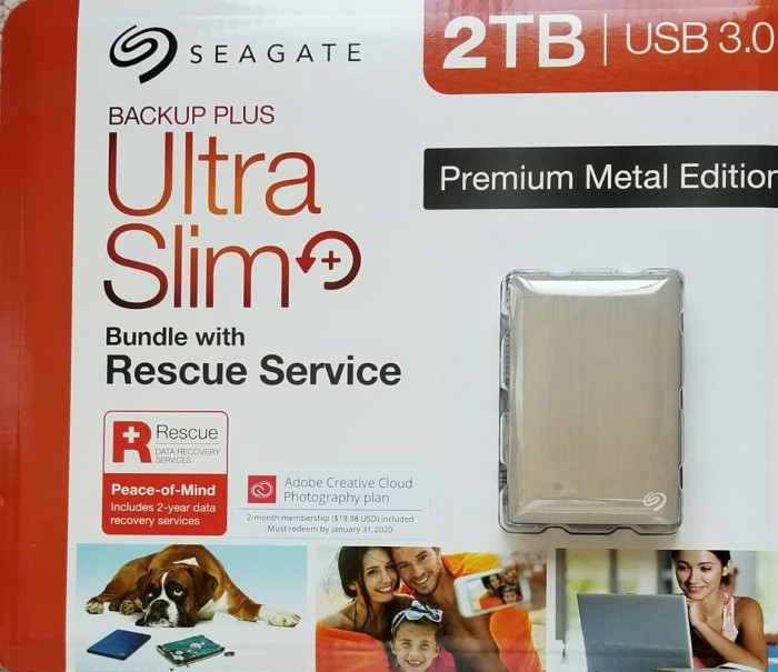 94ae2cbede2 Seagate Backup Plus 2TB Portable Hard Drive with Rescue Data Recovery.