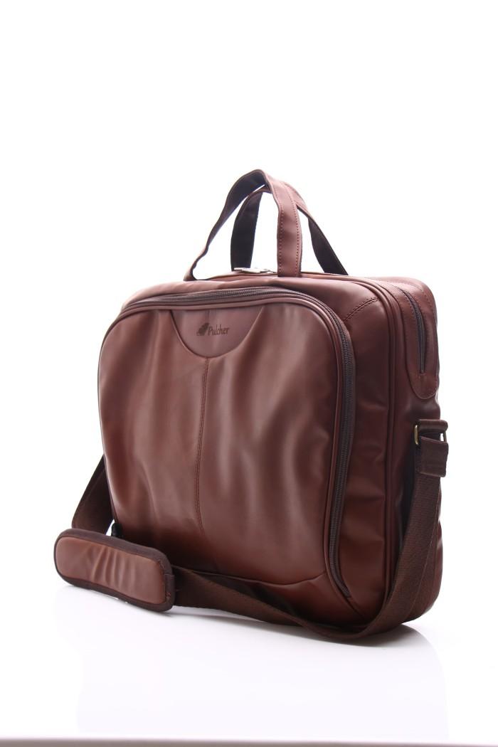 Pulcher Bags Briefcase Brownies Series Brown