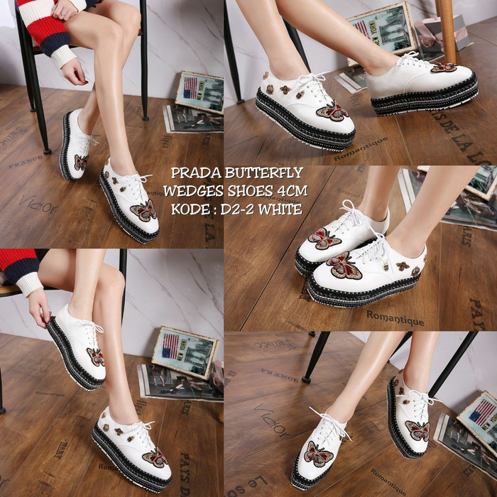 Jual Sepatu PRADA BUTTERFLY WEDGES SHOES D2-2 - wena collection ... 8f44179d74