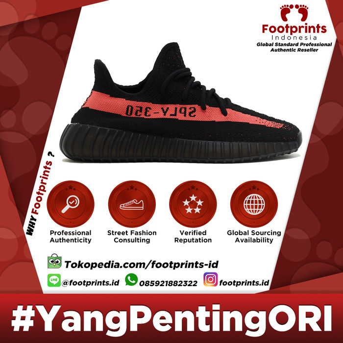 48a9c74aba7d6 Jual Adidas Yeezy Boost 350 V2 Red   Black Red 100% Original Sneaker ...