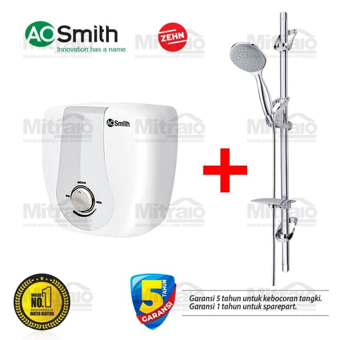 promo bundling ao smith 15l electric water heater free shower set