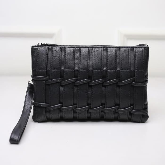 Jual tas selempang mini kecil wanita hitam kulit simple ...