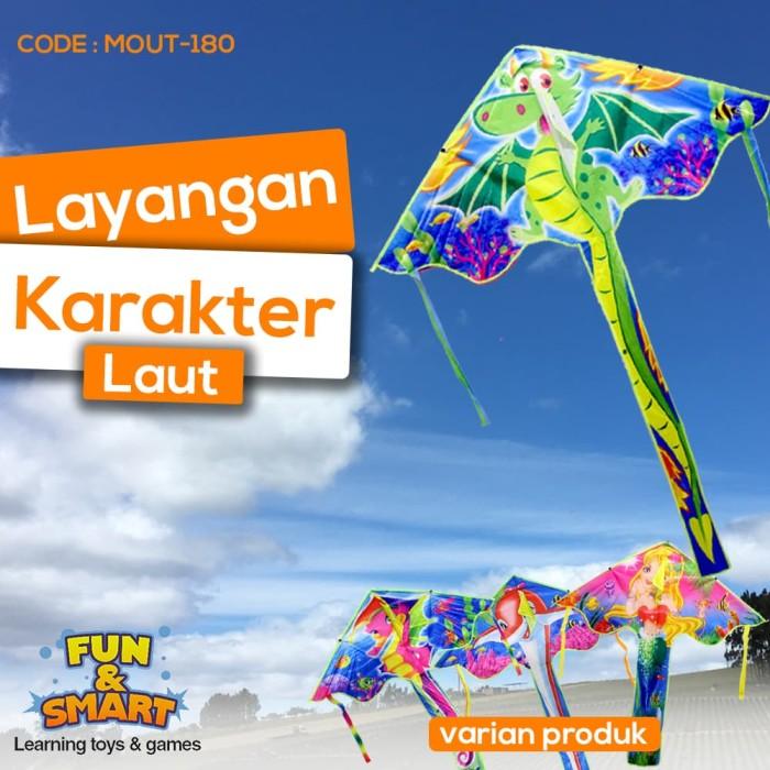 Foto Produk MAINAN LAYANGAN / LAYANG LAYANG HIAS MOTIF KARAKTER LAUT - MOUT-180 dari Fortunate